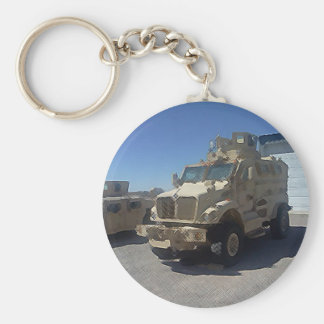 MRAP US MILITARY ARMOR BASIC ROUND BUTTON KEY RING
