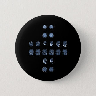 MRI Cross 6 Cm Round Badge