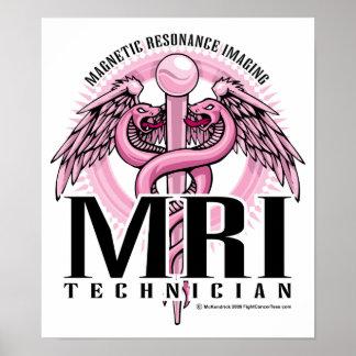 MRI Pink Caduceus Print