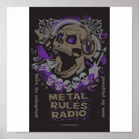 MRR Screaming Skull Poster