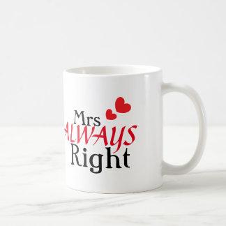 Mrs (always) Right Coffee Mug