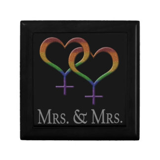 Mrs. and Mrs. Lesbian Pride Gift Box