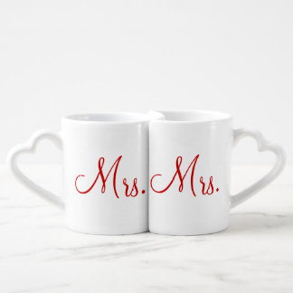 Mrs. and Mrs. Lovers' Mug Set Lovers Mug