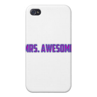Mrs. Awesome iPhone 4 Case