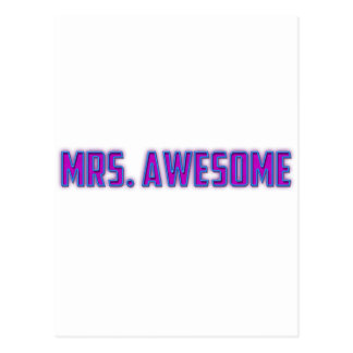 Mrs Awesome Post Card