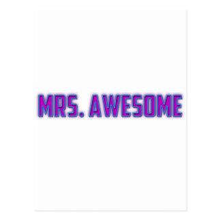 Mrs. Awesome Postcard