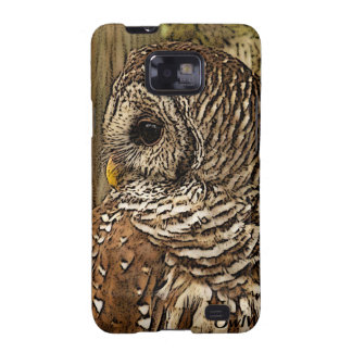 Mrs Barred Owl Samsung Galaxy S2 Cases
