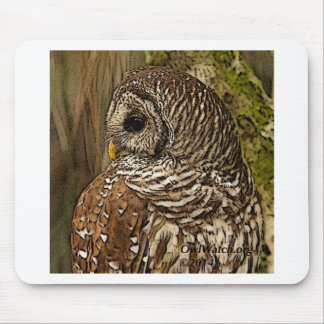 Mrs Barred Owl Mousepad