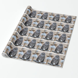 Mrs Barred Owl - OctoBox Nest Wrapping Paper
