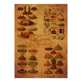 Mrs Beeton's Christmas Feast Poster
