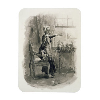 Mrs Betsy Trotwood, from 'Charles Dickens: A Gossi Rectangular Photo Magnet
