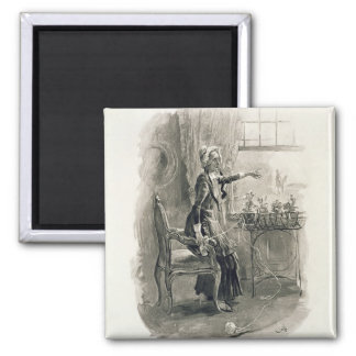 Mrs Betsy Trotwood, from 'Charles Dickens: A Gossi Square Magnet
