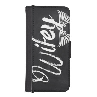 Mrs Biker honeymoon chalkboard wifey iPhone SE/5/5s Wallet Case