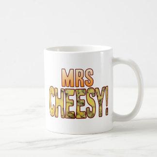 Mrs Blue Cheesy Basic White Mug