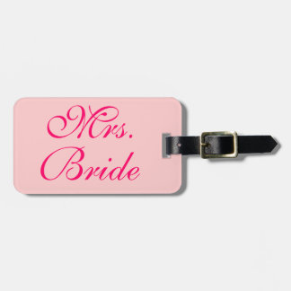 Mrs. Bride Customized Wedding Honeymoon Luggage Tag