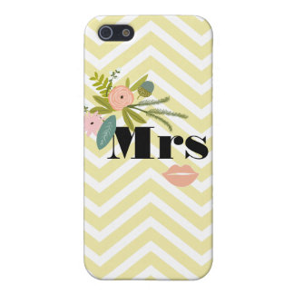 Mrs Bride Peach Lip Zig Zag Pattern iPhone 5 Case
