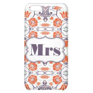 Mrs Bride s FLORAL Pattern iPhone 5 Case