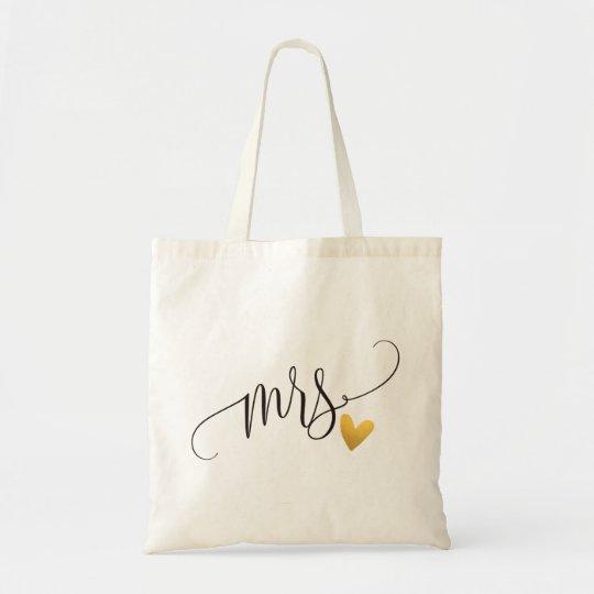 """Mrs."" Bride, Wedding Tote Bag"
