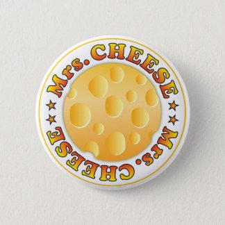 Mrs Cheese 6 Cm Round Badge