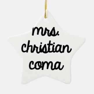 Mrs. Christian Coma Ceramic Star Decoration