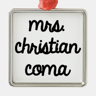 Mrs. Christian Coma Silver-Colored Square Decoration