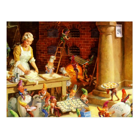 Mrs. Claus & Santa's Elves Bake Christmas Cookies