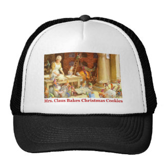 Mrs. Claus & the Elves Bake Christmas Cookies Cap
