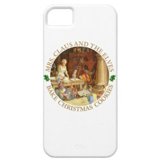 Mrs. Claus & the Elves Bake Christmas Cookies iPhone 5 Cover