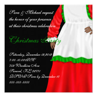 Mrs Clause christmas invitation