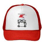 MRS. CLAWS CHRISTMAS KITTY PRINT MESH HATS