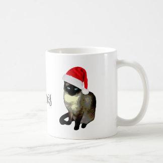 Mrs. Claws Siamese Cat Ugly Christmas Mug