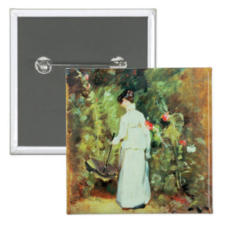 Mrs Constable in her Garden 15 Cm Square Badge
