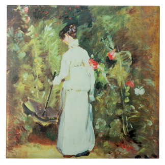 Mrs Constable in her Garden Large Square Tile