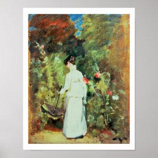 Mrs Constable in her Garden Poster