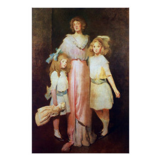 Mrs. Daniels with Two Children Print