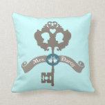 Mrs. Darcy Jane Austen Throw Pillow