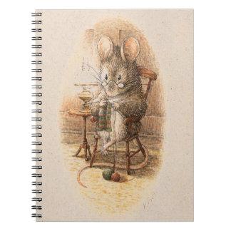 Mrs. Dormouse Knitting Note Book