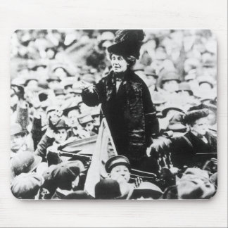 Mrs Emmeline Pankhurst  Addressing a Crowd Mouse Pad