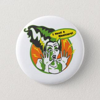 Mrs Frankenstein Needs a Manicure 6 Cm Round Badge