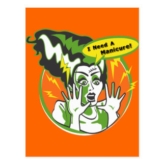 Mrs Frankenstein Needs a Manicure Post Cards
