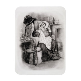 Mrs Gamp, from 'Charles Dickens: A Gossip about hi Rectangular Photo Magnet