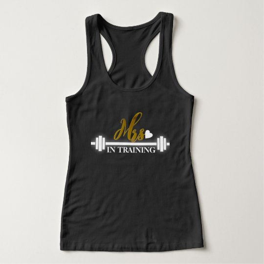 Mrs. (Gold Foil) in Training Women's Workout Tank