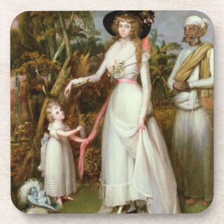 Mrs Graham of Kinross, her Daughter and a Jamadar, Beverage Coasters