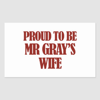 Mrs gray designs rectangular sticker