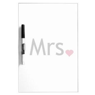 Mrs  - half of Mr and Mrs set Dry Erase Board