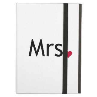 Mrs  - half of Mr and Mrs set iPad Cover