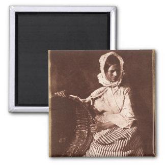 Mrs Hall, Newhaven, c.1843-47 (salt paper print fr Square Magnet