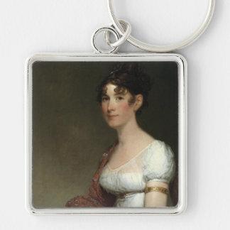 'Mrs. Harrison Gray Otis' Silver-Colored Square Key Ring
