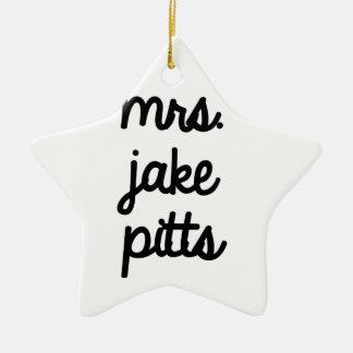 Mrs. Jake Pitts Ceramic Star Decoration