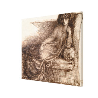 Mrs. Jane Morris Reclining on a Sofa Canvas Print